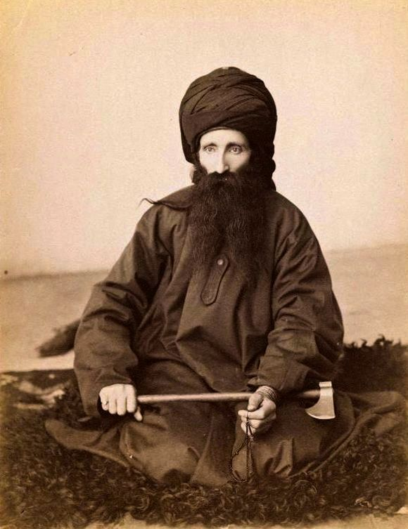 Dervish during the late 19th-early/20th century, from Qajar, Iran. Brooklyn Museum. Photograph by Antoin Sevruguin. #Islam #Sufism #Spirituality #Mysticism #God #Religion #Allah