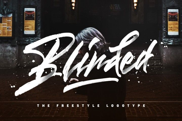 Blinded - Freestyle Logotype By Dirtyline Studio