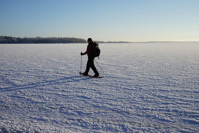 Snowshoeing in #Vaasa #Finland  More on our blog: http://hikeventures.com