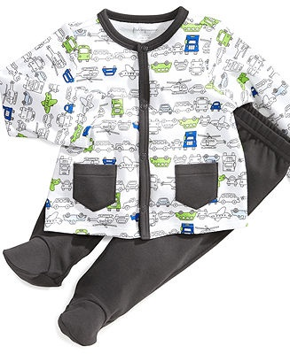First Impressions Baby Set, Baby Boys Transportation Shirt and Footed Pants - Kids Baby Boy (0-24 months) - Macy's