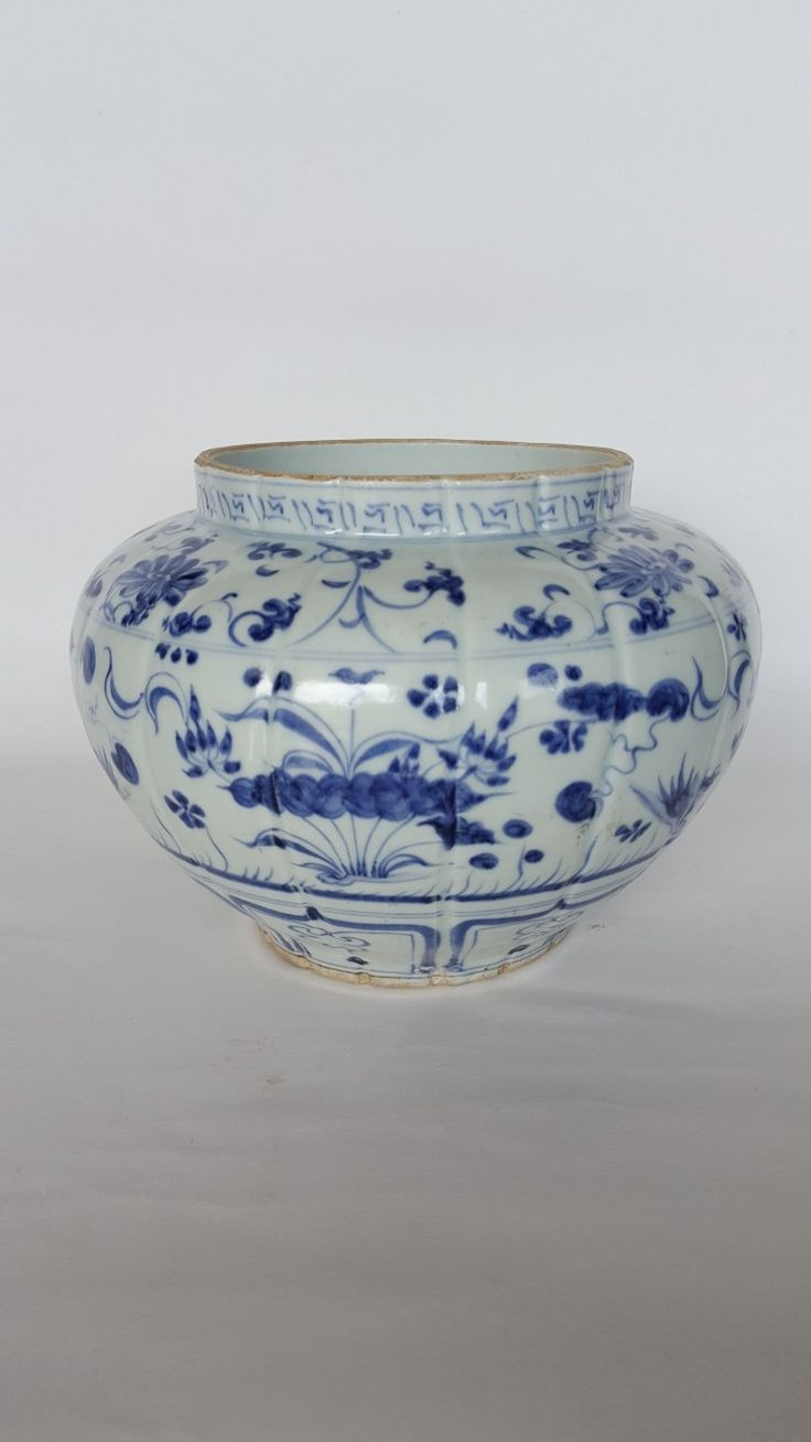 Blue and white Jar. YUAN DYNASTY.