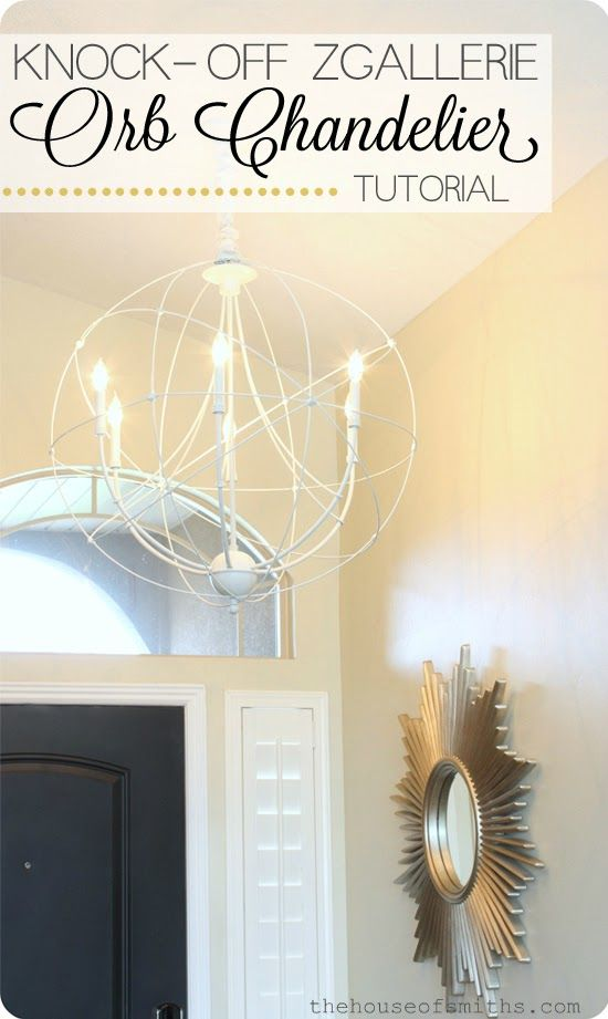 DIY Orb chandelier tutorial - Zgallerie light knock off - houseofsmiths