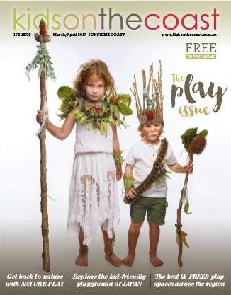 Getting Back to Nature - Nature Play QLD feature article in Kids On The Coast. #NaturePlayQLD