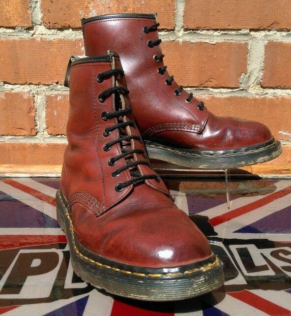 Vintage 1970s Dr Martens Oxblood 1460 boots UK 7.5 Martins Skinhead Punk Oi!