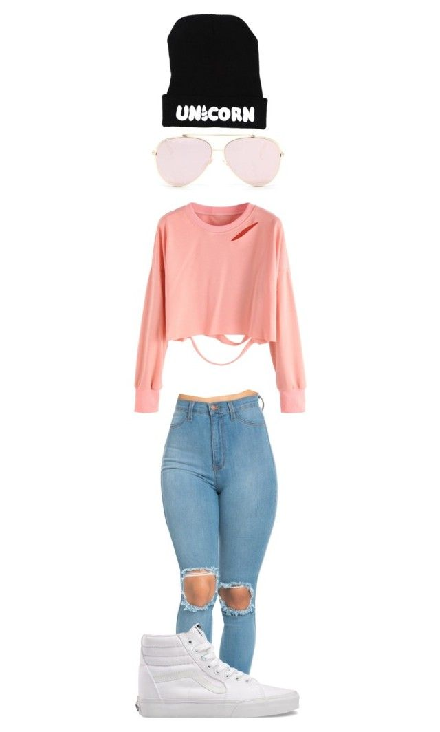 """""""Pink Unicorn"""" by shiane816 ❤ liked on Polyvore featuring Vans"""