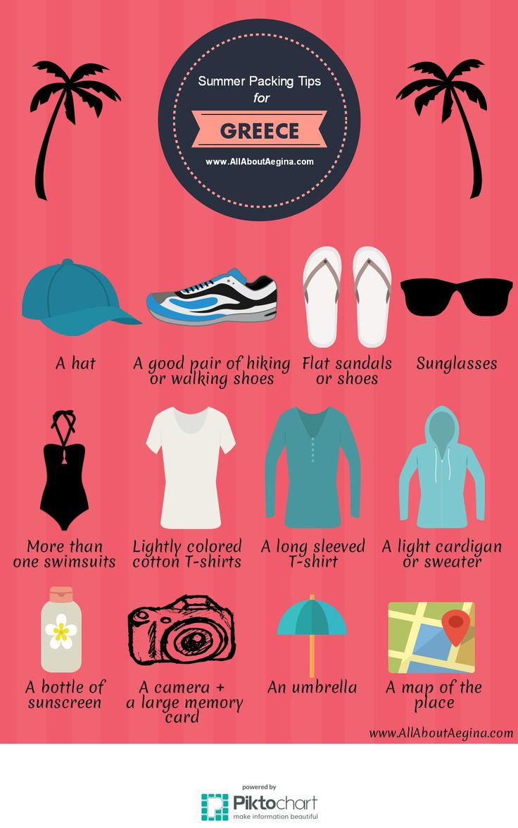 Infographics: Summer Packing Tips for Greece