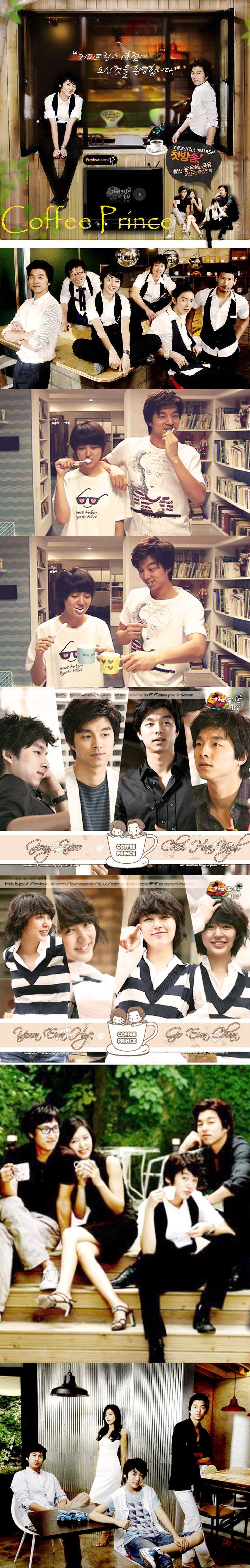 Coffee Prince (The 1st Shop of Coffee Prince)  2007 K Drama - 17 episodes - Gong Yoo / Yoon Eun Hye / Lee Sun Gyun / Chae Jung Ahn