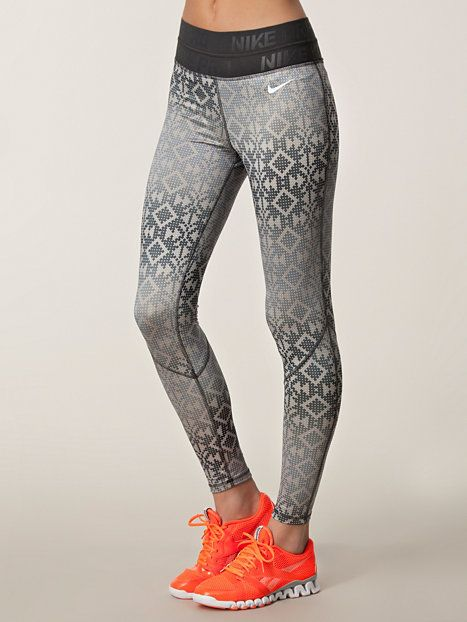 Pro Hyperwarm Tight Print - Nike - Black/White - Tights - Sports Fashion - Women - Nelly.com Uk