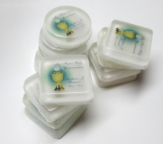 Personalized First Communion Favor Soaps by soapsationalcreation, $14.00