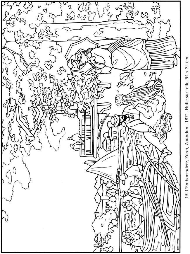 famous monet coloring pages printables - photo#4
