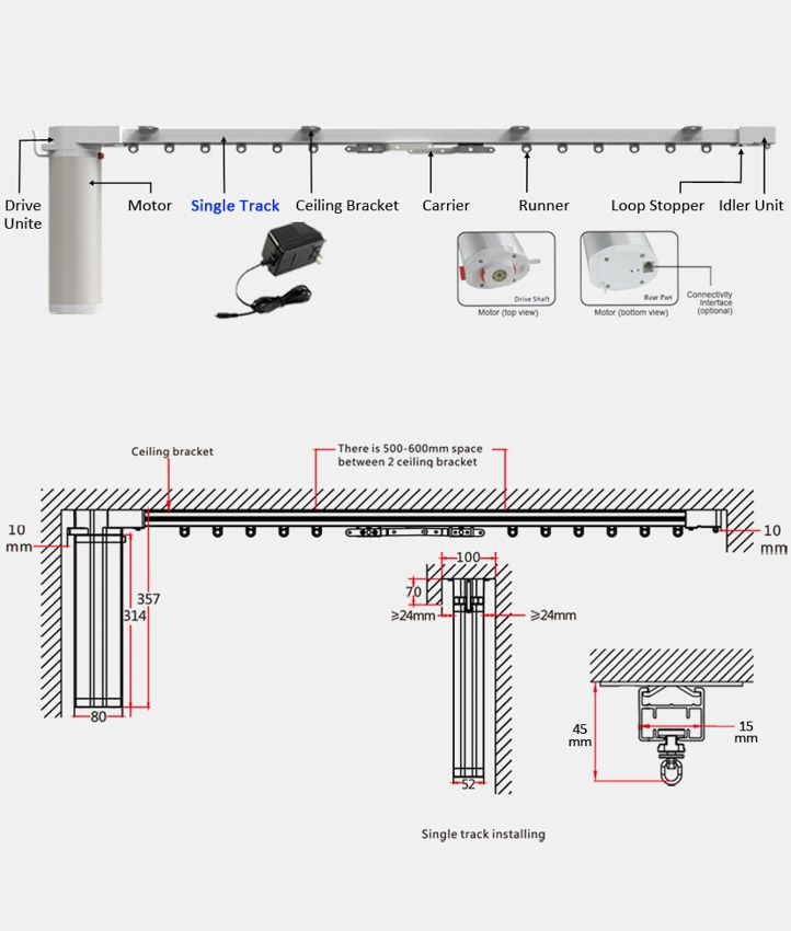 Automaticcurtain Com Motorized Curtain Curtain Track System Smart Home Automation