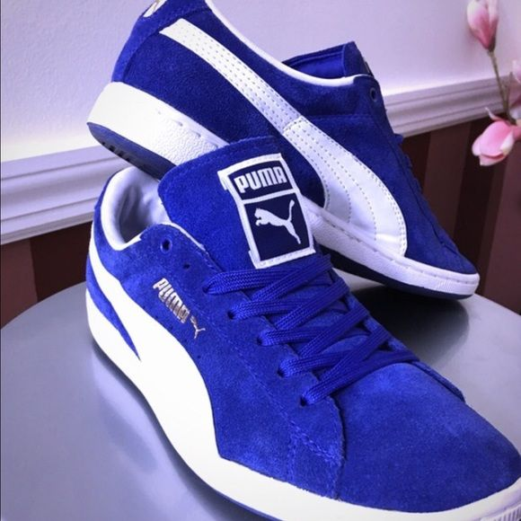huge discount defaf 6b984 royal blue puma suede