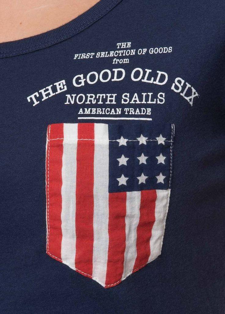 #NorthSails #collection #Spring #Summer #2014 #SS2014 #Woman #tshirt #pocket #USA #flag #collezione #donna #primavera #estate #maglietta #taschino #bandiera #USA