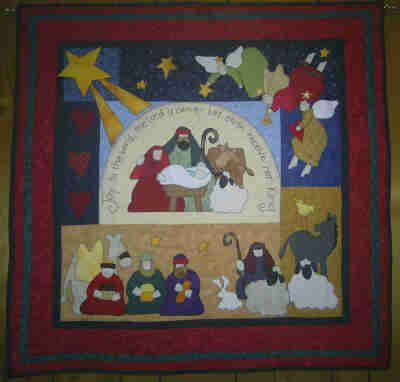 Nativity Quilt Wall Hanging by beckrichabear, via Flickr