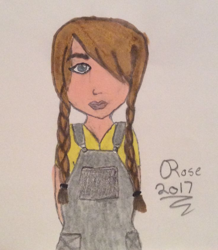 I just realized after I colored it, her clothes looks like minion clothes! -Rose