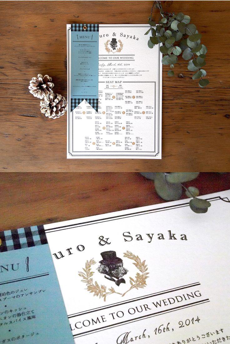 結婚式ペーパーアイテム -席次表&メニュー- wedding paper item -seat map & menu- オーダーメイド/オリジナル