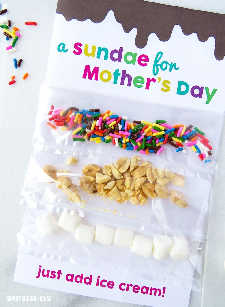 A Sundae for Mother's Day! A free DIY Mother's Day card and printable