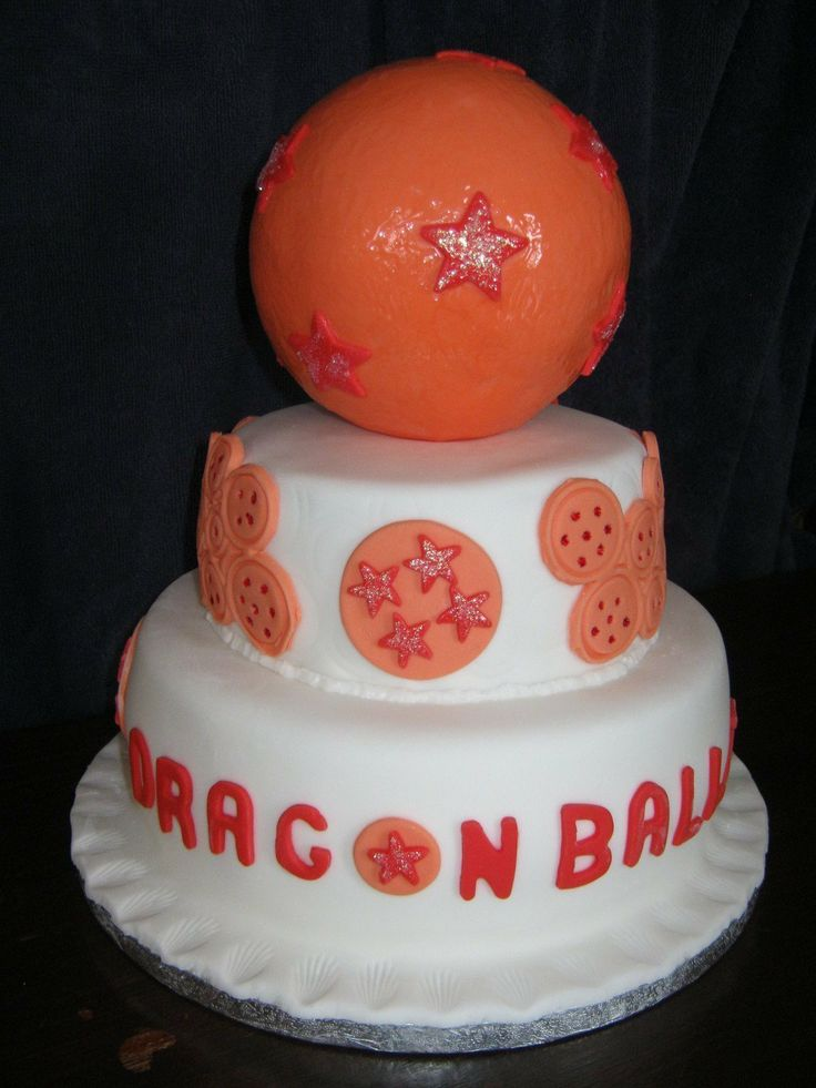 Dragon Ball Z Tiered Birthday Cake