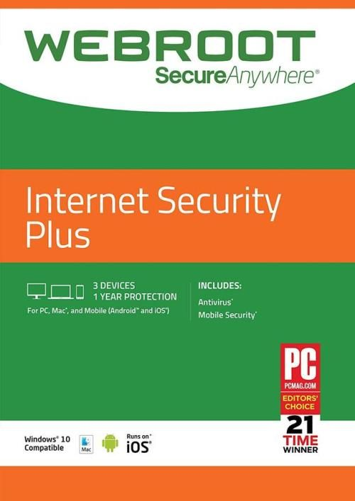 Webroot Internet Security Plus with Antivirus Protection | 3