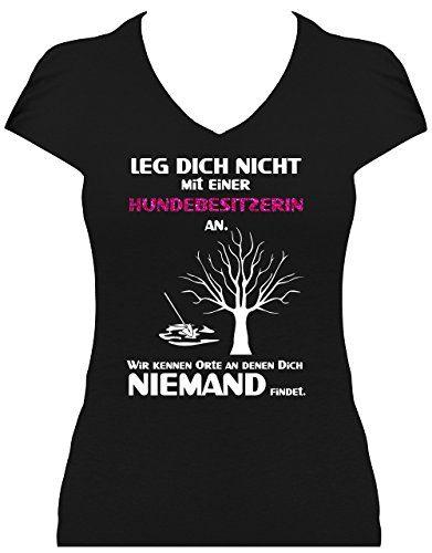 Damen Fun Shirt Spruch Leg Dich nicht mit einer Hundebesi...http://amzn.to/2naVCPK