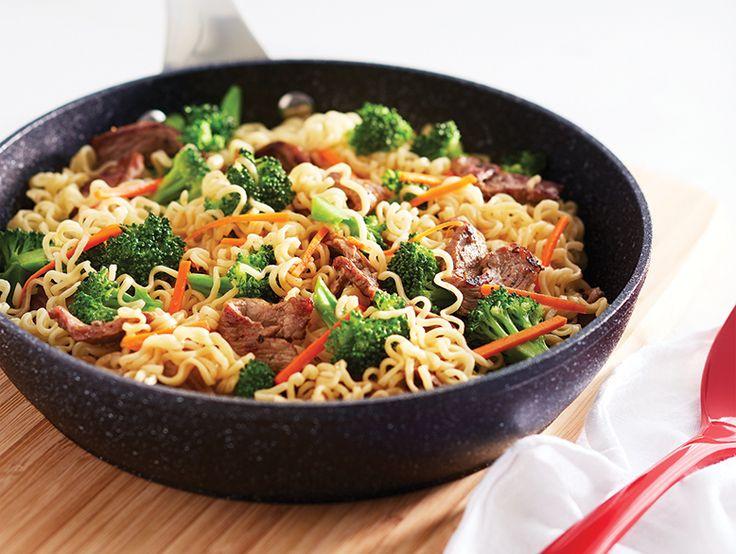 10 easy ramen noodle recipes - Beef and broccoli ramen