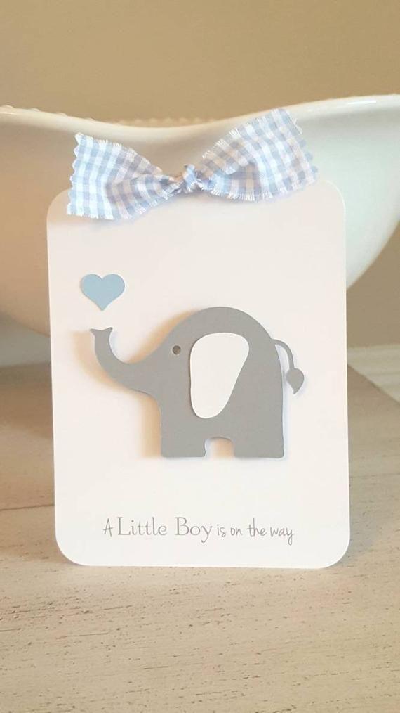 Boy Baby Shower Invitations Elephant