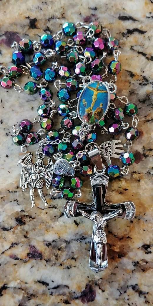 Check out this item in my Etsy shop https://www.etsy.com/listing/547460888/rosary