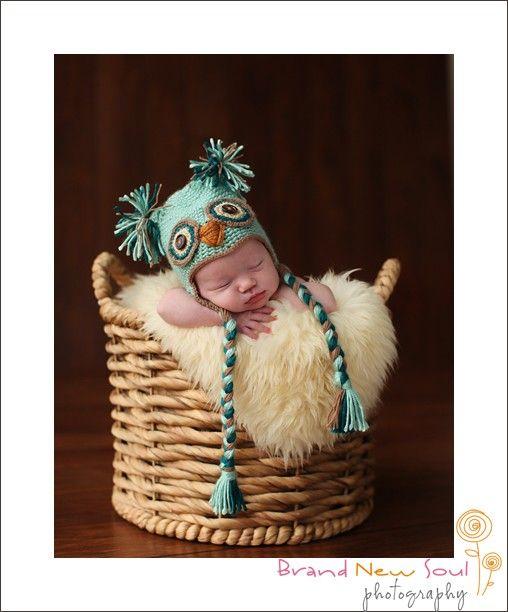 Newborn Owl hat  Photography Prop by danettekay on Etsy