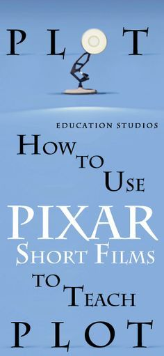 "How to use Pixar Short Films to quickly master Plot. 10 highly engaging short films to study plot and the story elements. ""Burn-E"" ""Day & Night"" ""Dug's Special Mission"" ""For the Birds"" ""Geri's Game"" ""Knick Knack"" ""Lifted"" ""Partly Cloudy"" ""Presto"" ""Tin Toy"" Enjoy the Pixar Short Films Study!"