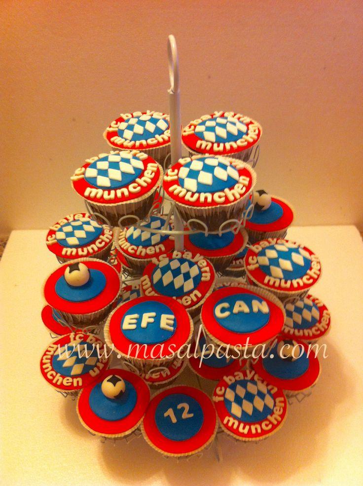 Football cupcakes , FC BAYERN MUNCHEN cupcakes