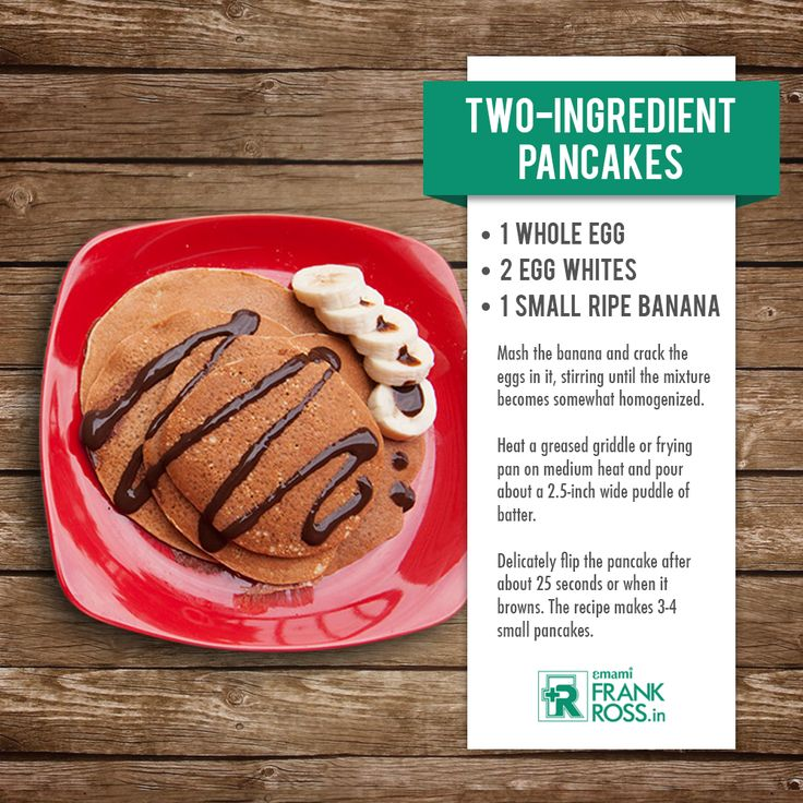 This two ingredient pancake is full of #carbs and #protein, which is important for a healthy body. #TuesdayHealthyRecipe Courtsey: bodybuilding. com