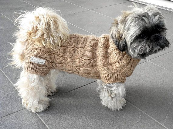 Hand Knit Dog Sweater by majStyle on Etsy, $52.00