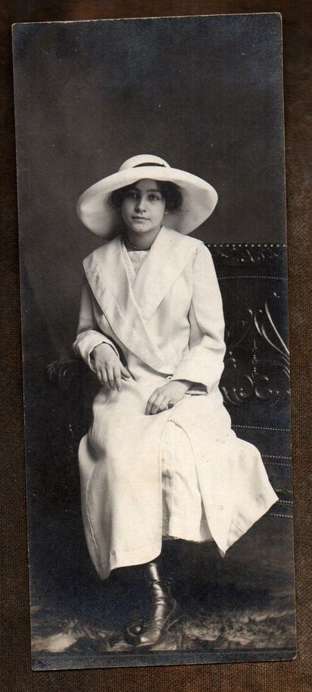"""Beautiful Seductive Woman in White"" ~ 1922 vintage photo ~"