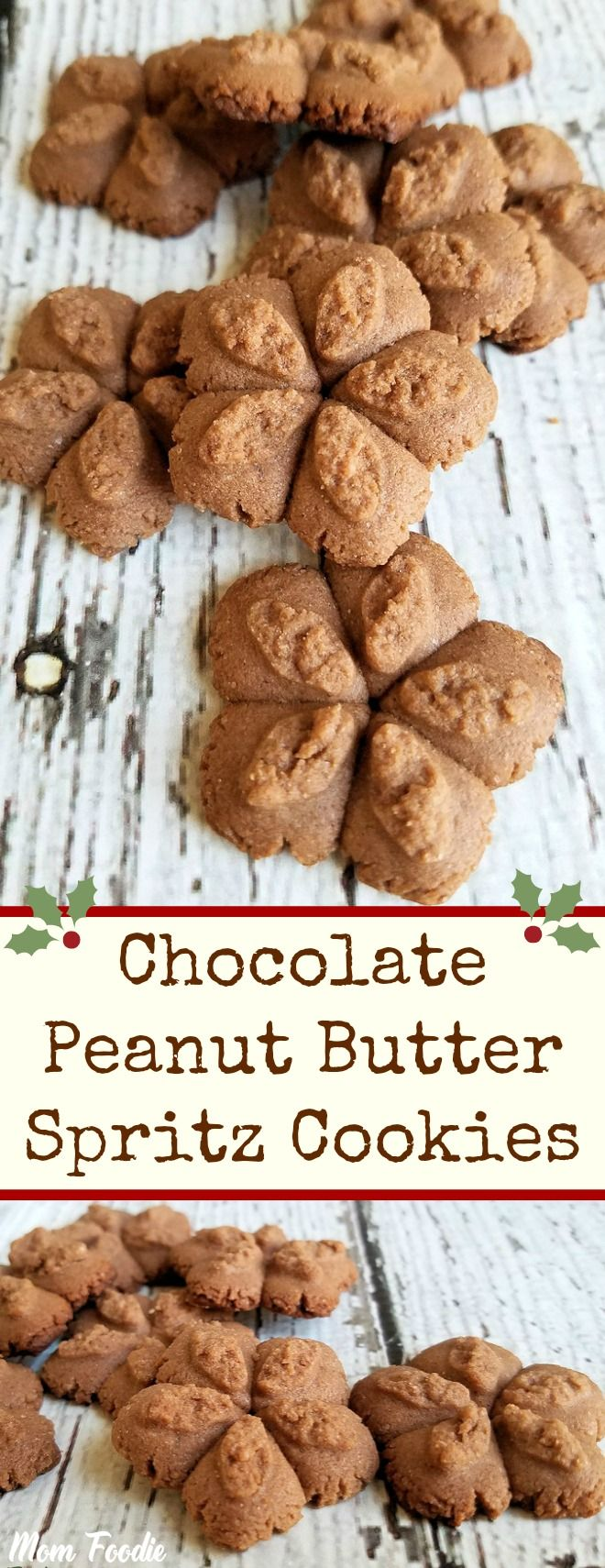 Chocolate Peanut Butter Spritz Cookies Recipe