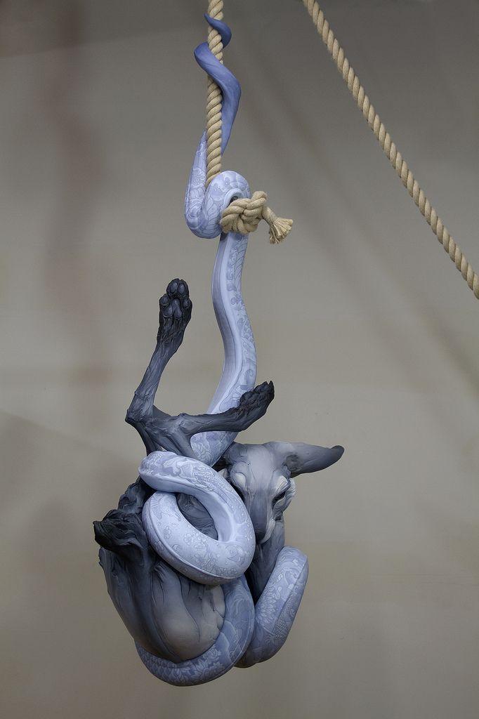 Beth Cavener Stichter and Alessandro Gallo Collaborate on Ornate Sculpture