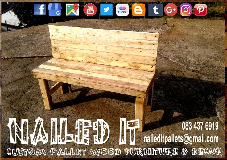 Custom Build Pallet Wood Chairs & Benches. All built to each clients specific needs & requirements. Suitable for indoor & outdoor use. Contact 0834376919 or naileditpallets@gmail.com for all your inquiries or quotes #palletgardenfurniture #gardenfurniture #outdoorpalletfurniture #naileditpalletfurniture #customfurniture  #palletfurnituredurban #custompalletfurniture #palletchairs #palletbenches #palletwoodchairs #palletwoodbenches #palletoutdoorfurniture