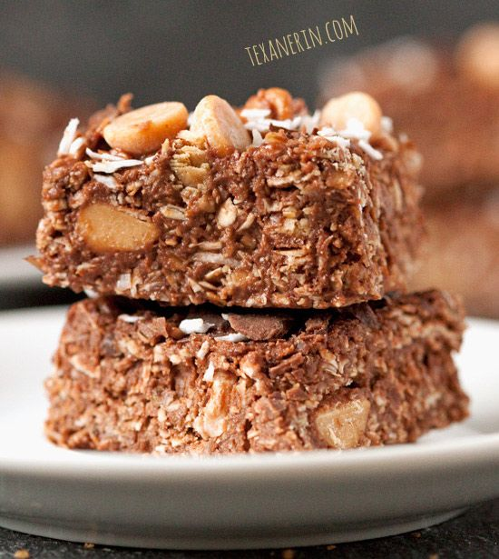 Gluten-Free Coconut Peanut Butter Chocolate Bars - incredibly delicious and simple to put together! | texanerin.com