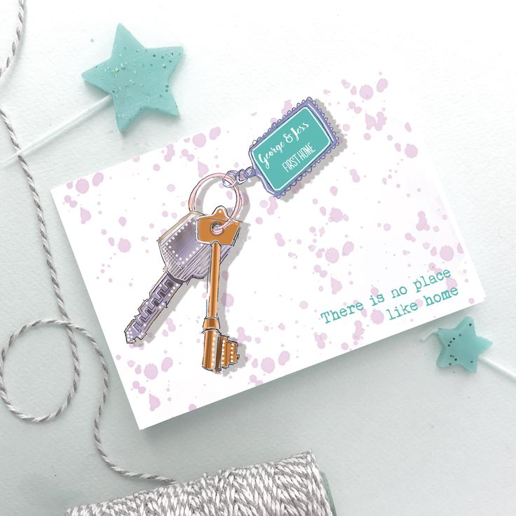 'New+Home'+Personalised+Hand+Drawn+Keys+Card+(copy), £3.95