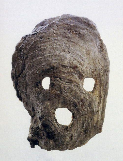 貝製仮面 熊本県阿高貝塚 縄文中期 イタボガキ製 長さ19.8cm. Shell made mask. Kumamoto-ken, Adaka…