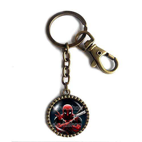 Deadpool Superhero Keychain Key Chain Key Ring Cute Keyring Car Cosplay Symbol