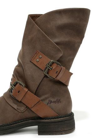 Cute Brown Boots - Mid-Calf Boots - Flat Boots - $65.00