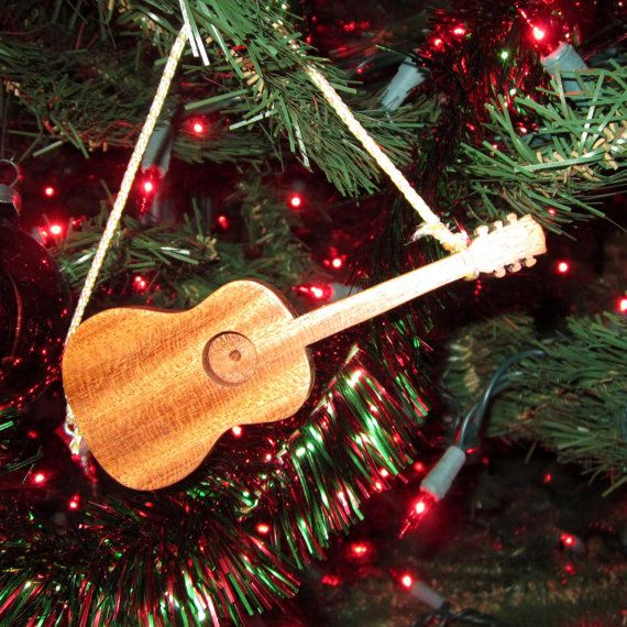 Guitar Ornament  Gibson Acoustic  in Solid by AKCWoodworking, $6.50
