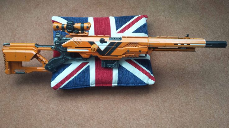 Destiny Vanguard Nerf sniper rifle  Save those thumbs & bucks w/ free shipping on this magloader I purchased mine http://www.amazon.com/shops/raeind
