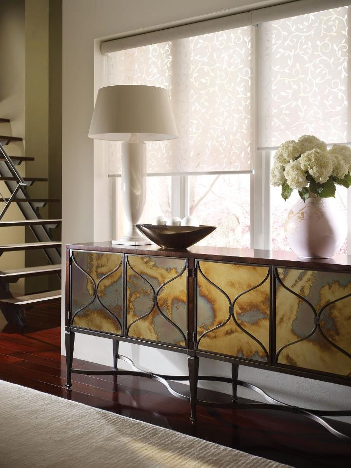 Credenza Smoked Mirror Front Caracole FurnitureCredenzaMirrored SideboardDining Room BuffetBuffet