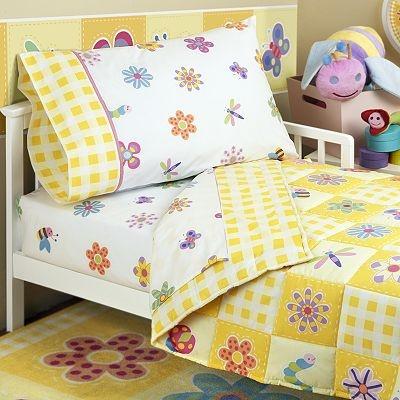 Another idea for updating Ela's bed - Olive Kids Flowerland Toddler Bedding Coordinates