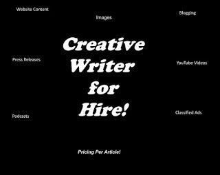 Writer for Hire: Writer for Hire!