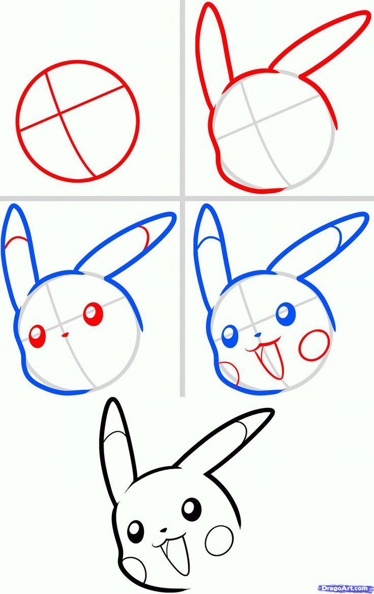 Easy Step By Step Drawing Tutorial: Pikachu Sketch Found On Google