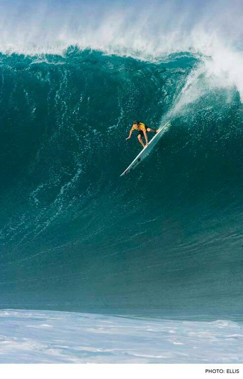 Absolutely charging at Waimea Bay, Hawaii