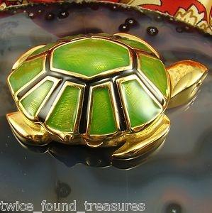 1994 Estee Lauder Turtle Solid Perfume Compact Knowing Perfume Unused and Mint