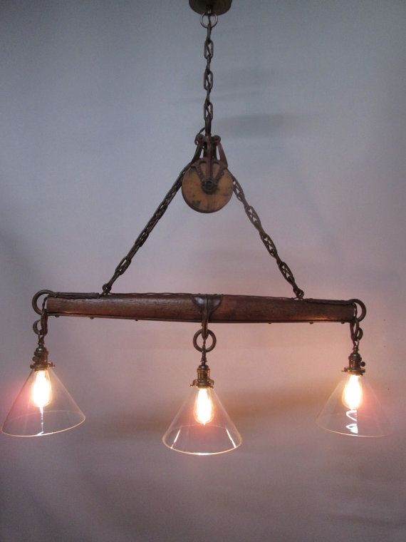 This Wonderful Rustic Light Is Perfect For Over A Bar Or A